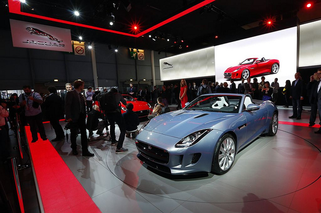 2012 Paris Auto Show-- and still in the shadows of Geneva, more than 50 years ago. (Jaguar photo)
