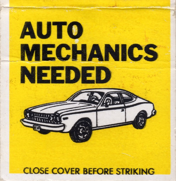 The best garages don't recruit off matchbook covers. (Wacky Stuff/Flickr)