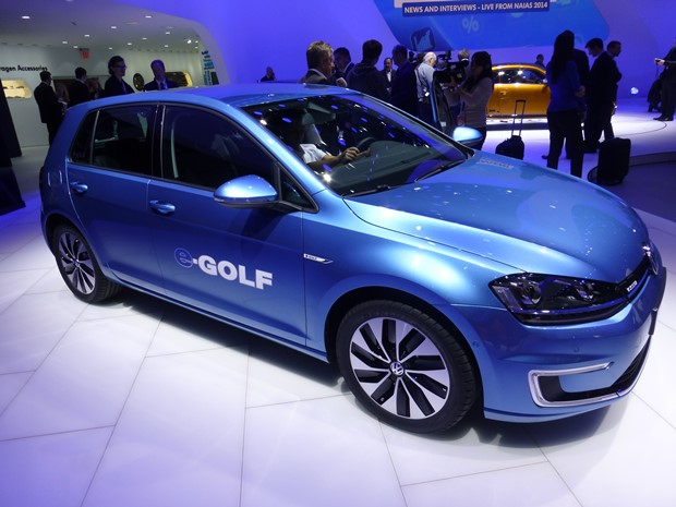 The 2015 VW e-Golf was slipped into the lineup. (Jim Motavalli photo)