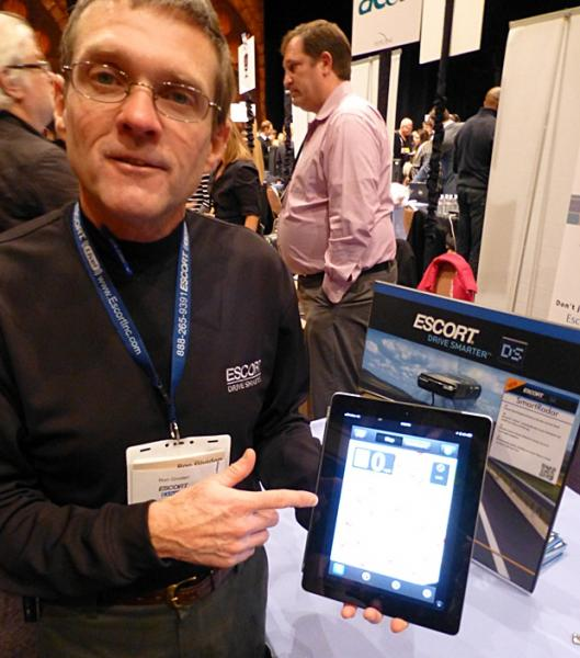 Ron Gividen of Escort says this app is your passport to ticket-free living. (Jim Motavalli photo)