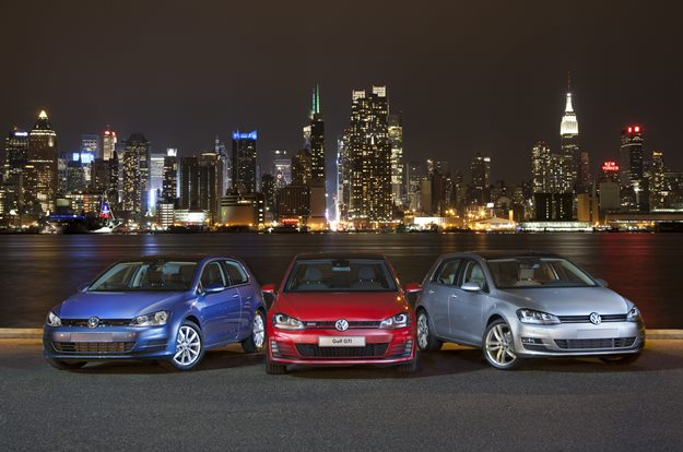 Volkswagen's 2015 Golf family. (VW photo)