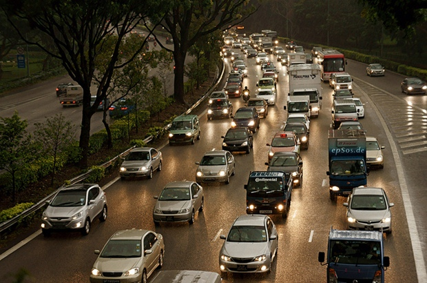 This traffic jam is in Singapore, but it could be anywhere in the world, couldn't it? (Flickr photo by epSos.de)