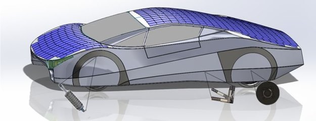 The Immortus is crawling with solar panels. (Aurora Solar Car Team)