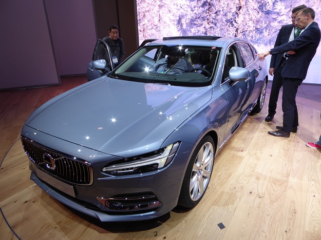The new Volvo S90 sedan is going to get the plug-in hybrid treatment, too. (Jim Motavalli photo)