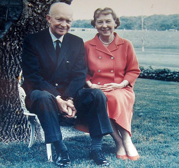 Mamie Eisenhower: She liked Ike. (White House photo)