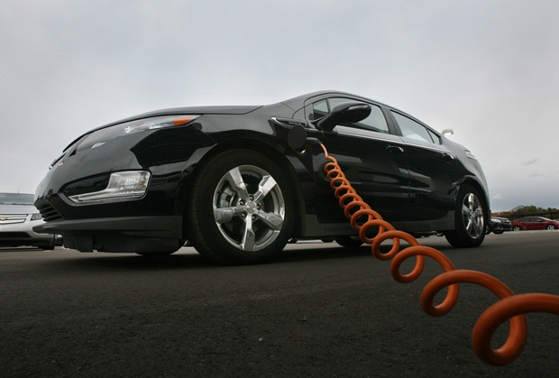 The Chevrolet Volt: Connecting to the utility gives us options. (GM photo)