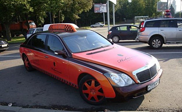 This Maybach is for hire in Moscow.