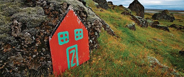 One of MANY elf habitat markers in Iceland!