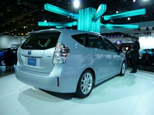 The Toyota Prius V: A home run for families. (Jim Motavalli photo)