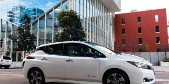 Electric Nissan Leaf Plus