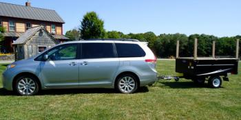 Toyota Sienna with trailer hitch