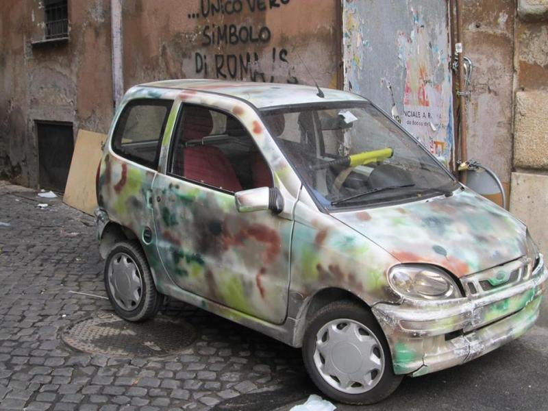 It's like that old saying, when in Rome . . . repaint your car.  (Photo: Michael Sheehan)
