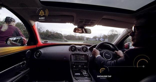 Jaguar Land Rover has its own approach to detecting bicyclists. Jaguar/Land Rover photo)