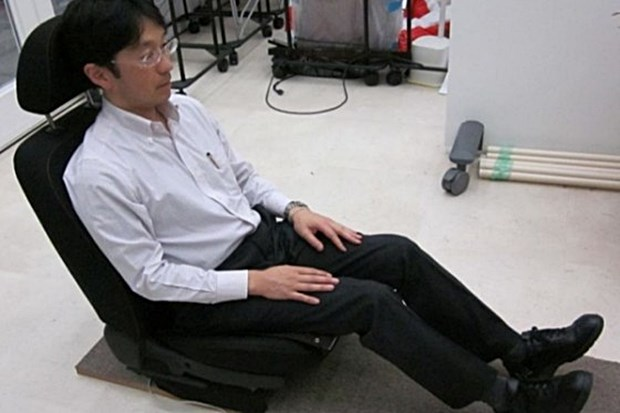 The butt sensor at work in a Japanese lab. (Advanced Institute of Industrial Technology photo)