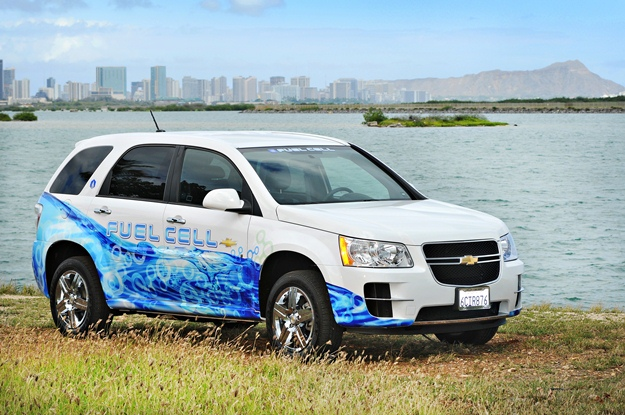 A General Motors fuel-cell car is part of a new pilot program. (GM photo)