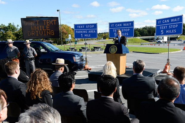 It's going to be hard to miss the message on New York's roads. (photo courtesy of Governor Andrew Cuomo)