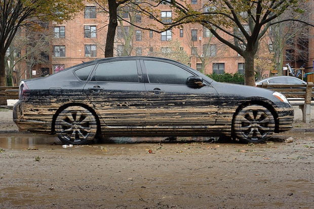 This car went through Hurricane Sandy in hard-hit Staten Island, New York, and you definitely should avoid it if it turns up on a used-car lot near you. (Flickr/Adrian Kinloch)