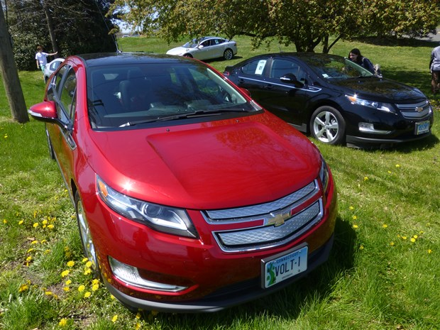 The Chevrolet Volt is GM's flagship carbon warrior. A Cadillac version is coming. (Jim Motavalli photo)