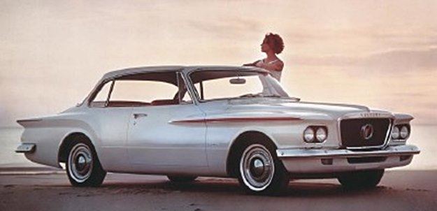 Mamie owned one of these--a low-key '62 Valiant economy car. (Plymouth photo)