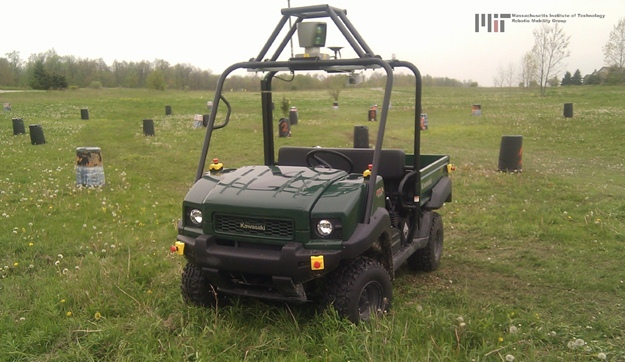 MIT worked with Quantum Signal and this unmanned Kawasaki test mule to develop its smart driving system. (MIT photo)