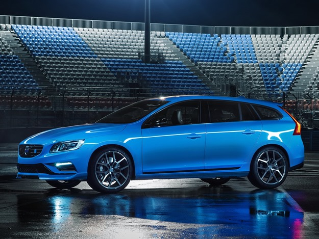 The Volvo S60 Polestar is a limited-edition car that makes 345 horsepower. It's a Volvo engine, though. (Volvo photo)