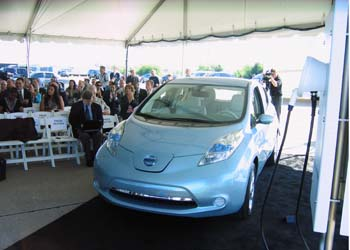 The Nissan Leaf has the Prius' climate impact when charged from coal. (Jim Motavalli photo)